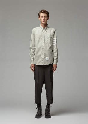 Thom Browne Flannel Straight Fit Button-Down Shirt