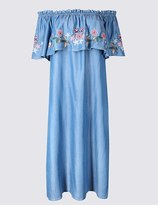 Marks and Spencer Embroidered Smock Shift Dress