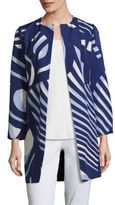 Lafayette 148 New York Hayes Faille Printed Coat