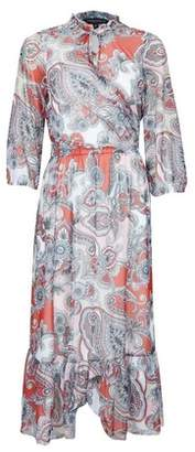 Dorothy Perkins Womens Multi Colour Paisley Print Mesh Midi Dress