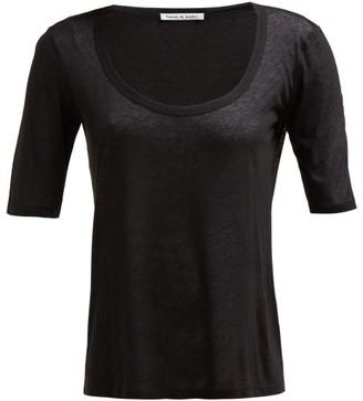 FRANCES DE LOURDES Sophie Slubbed-jersey Scoop-neck T-shirt - Black