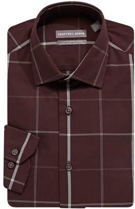 Geoffrey Beene Slim Fit Long-Sleeve Windowpane Check Dress Shirt
