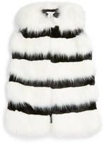 Little Marc Jacobs Girl's Stripe Faux Fur Vest
