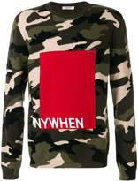 Valentino Anywhen camouflage jumper