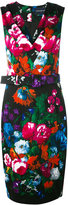Samantha Sung floral print belted dress - women - Cotton/Spandex/Elastane - XS