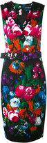 Samantha Sung floral print belted dress