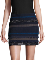 Alice + Olivia Women's Elana Paneled Mini Skirt
