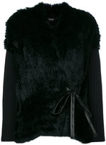 Twin-Set faux fur cardigan - women - Cotton/Polyamide/Polyurethane/Wool - 38
