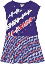 Kenzo Blue Mini Me Branded Jersey Dress