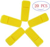 Fushing 20Pcs Plastic Finger Clips for Slim-line Velvet Hangers Garment Trouser Pants Removable Strong Grip