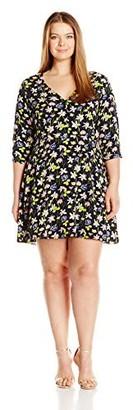 Junarose Women's Plus Size Rina 3/4 Sleeve Dress
