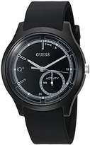 GUESS Women's 'Connect Fitness' Quartz Stainless Steel and Silicone Casual Watch