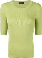 Roberto Collina fitted ribbed T-shirt - women - Cotton - S