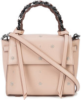 Elena Ghisellini star stitched satchel - women - Leather - One Size