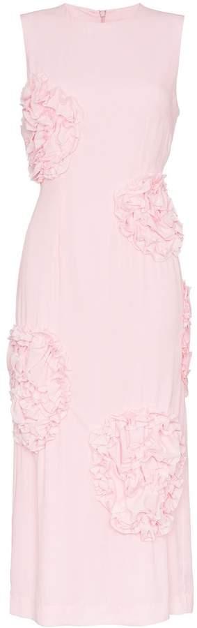 Simone Rocha sleeveless rose embellished dress