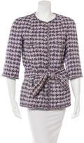 Chanel Houndstooth Belted Coat
