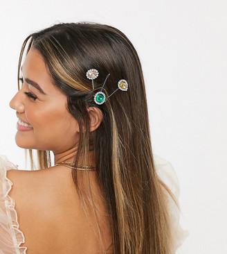 Miss Selfridge multi rhinestone hair clips