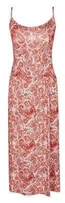 Dorothy Perkins Womens Paisley Print Midi Camisole Dress