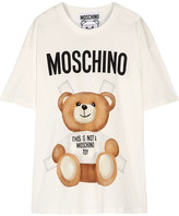 Moschino Oversized Printed Cotton-jersey T-shirt - Off-white