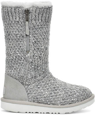 UGG Metallic Sequin Knit Tall Boots, Toddler/Kids