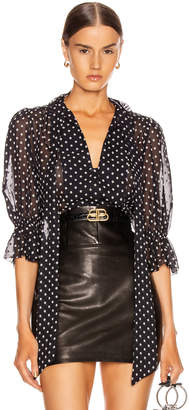 Alexis Calixte Top in Black Embroidered Top | FWRD