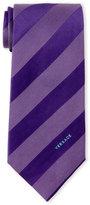 Versace Dash Stripe Silk Tie