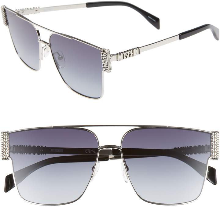 Moschino 60mm Aviator Sunglasses