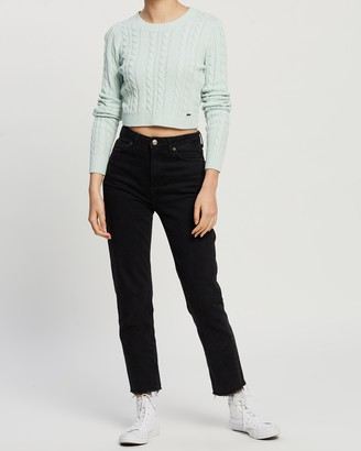 Hollister Crop LS Cable Crew
