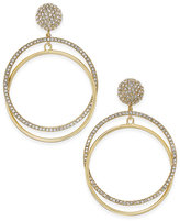Kate Spade Ring It Up Gold-Tone Double-Hoop Drop Earrings