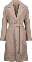 Helmut Lang Belted bouclé aplaca and wool-blend coat