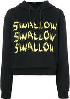 McQ by Alexander McQueen swallow hoodie sweatshirt - women - Cotton - XS