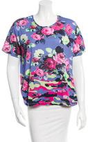 Carven Floral Printed Short Sleeve Top