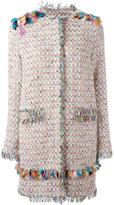 MSGM embroidery detail coat - women - Cotton/Linen/Flax/Acrylic/Metallic Fibre - 42