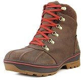 The North Face Ballard Duck Boot Men Round Toe Leather Brown Hiking Boot.