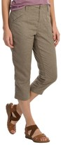 White Sierra Canyon Capris - Hemp (For Women)