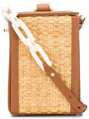 Nico Giani Woven Straw Cross Body Bag