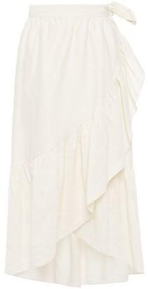 Vanessa Bruno Ruffled Jacquard Midi Wrap Skirt