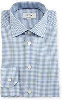 Eton Contemporary-Fit Check Dress Shirt, Blue/Gray