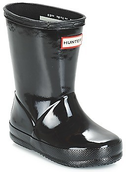 Hunter FIRST CLASSIC GLOSS girls's Wellington Boots in Black