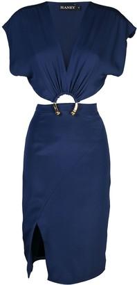 HANEY Kerr hoop detail dress