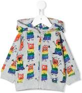 Stella McCartney rainbow monster print hoodie