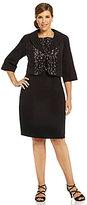 Le Bos Woman Lace Combo Jacket Dress