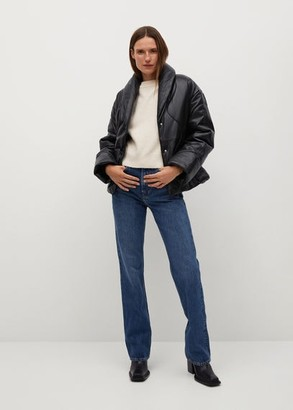 MANGO Quilted leather jacket