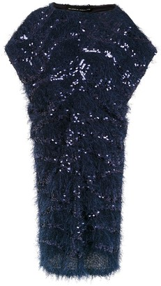 Gloria Coelho Midi Sequinned Dress