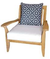 Celia Deep Seating Teak Patio Chair with Sunbrella Cushions Rosecliff Heights Cushion Color: Natural