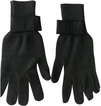 Givenchy Green Wool Gloves