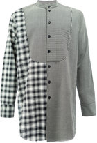 Song For The Mute contrast checked bib shirt