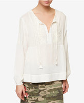 Sanctuary Marina Cotton Peasant Top