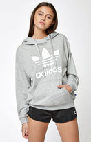 adidas Heather Gray Trefoil Pullover Hoodie