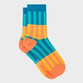 Paul Smith Women's Blue 'Candy Stripe' Socks